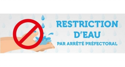 Restriction d'eau - Chantier en cours